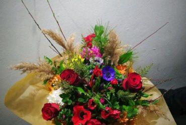 Μπουκέτο με άνθη εποχής ΤΡΙΑΝΤΆΦΥΛΛΕΝΙΑ