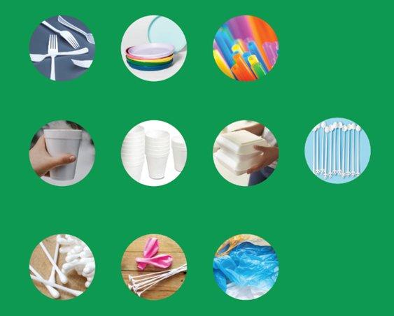 Από 3 Ιουλίου απαγόρευση χρήσης 10 πλαστικών προϊόντων