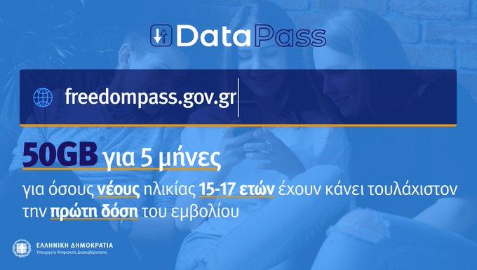 Freedom Pass: Data με μια απλή αίτηση του γονέα ή του κηδεμόνα